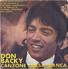 DISCO 45 Giri DON BACKY canzone // casa bianca