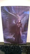 3D POSTCARD Gothic Art Anne Stokes Harbinger Black Wings 10x15 cm appx New