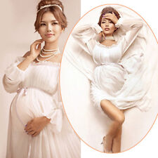 2016 New White Pregnant Long Women Dresses Maternity Photography Props Clothing