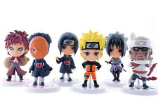 6 Pcs per set Pvc Doll Figures Action Car Ornaments Naruto Anime Sasuke Gaara