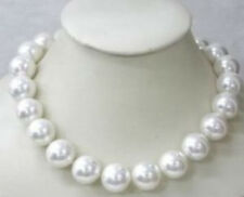 """Wonderful!18"""" 12MM Natural White Shell Pearl Necklace AAA+"""