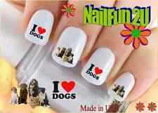 """Nail Art WaterSlide Decals Ready to Go Set#136 """"I love Dog Group"""" Transfer Stick"""