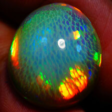 14.30 ct RARE ONE OF KIND MICRO HONEY COMB G SOLID SEMI BLACK WELO OPAL
