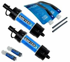 [SP128](2X) TWO PACK Sawyer Ultra Light Mini Water Filters each w/16oz pouch NEW