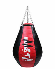 Aasta Maize Teardrop Shape Unfilled Punch Bag Pear Shaped Bag With Hanging Chain