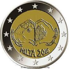 2 EURO MALTE UNC 2016 THEME AMOUR
