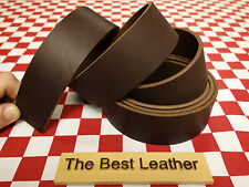 "HORWEEN LATIGO 11 oz BROWN ILLINI LEATHER 80""x20mm FOR BELT & STRAP NAT. QLTY"