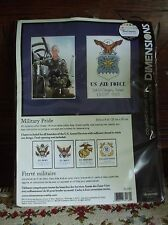 Dimensions Military Pride Counted Cross Stitch All Branches with Photo Frame