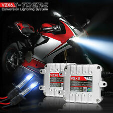 V2X6 Ultra Premium Xenon Conversion Kit For Motorcycle Headlights 8000K