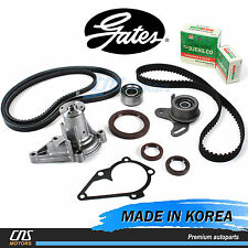Gates HTD Timing Belt Kit w/ V-Belt & Water Pump for 01-11 Hyundai Accent G4ED