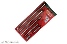 "6pc Neilsen 3/8"" inch Drive Socket Wobble Bar Extension Set Garage Workshop Tool"