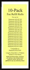 10 New KX-FA91 Fax Film Refill Rolls for Panasonic KX-FG2425 KX-FG2451 KX-FG2452