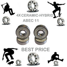 4 Precision Abec 11 hybrid ceramic bearings skate inline Skateboard scooter 9
