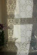 Laura Ashley white Cotton Lace Curtain c1900s period design Yardage off roll