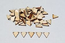 50 NEW Small Wooden Geometric Triangle Wood Pendants for Necklace or Earrings