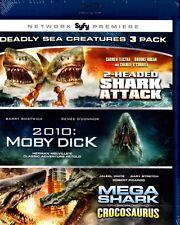 2-Headed Shark Attack / 2010: Mobi Dick / Mega Shark vs Crocosaurus (Blu-ray)