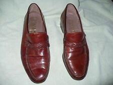 gg BALLY ITALIAN MADE BROWN LEATHER LOAFERS MENS 7.5 W