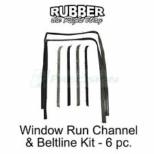 1981 1982 1983 1984 1985 Chevy GMC Truck Suburban Window Run & Beltline Kit 6 pc