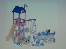 HAPPY FAMILY Baby 1st Birthday Playset SWING SANDBOX HORSE Mattel B6292 Barbie