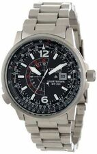 New! Citizen Nighthawk Eco-Drive Pilot Men's Stainless Steel Watch BJ7000-52E