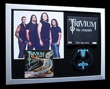 TRIVIUM+SIGNED+FRAMED+CRUSADE+ANTHEM+WAVES=100% AUTHENTIC+EXPRESS GLOBAL SHIP!
