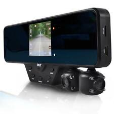 Pyle PLCMDVR52 Mirror Dash Cam 2 Camera DVR Recording System, Full HD 1080P