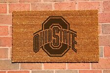 Ohio State Buckeyes Laser Engraved Welcome Mat, 100% Natural Coir Fiber