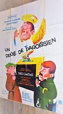 UN DROLE DE PAROISSIEN ! bourvil mocky affiche cinema 1963