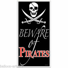 5ft Pirate Party BEWARE OF PIRATES Door Poster Banner Cover Decoration