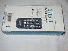 RADIO SHACK REMOTE CONTROL 3-IN-ONE 15-1990 TV VCR CABLE