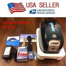 New Zebra P100i ID Card Printer USB - Full Color Ribbon & PVC Cards - Retail Box