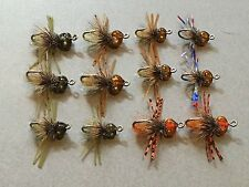 12 Bonefish Bitters Selection Bonefish Permit Flies Fly Fishing Flats Rod Reel