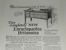1929 Encyclopaedia Britannica advertisement for BRITANNICA Encyclopedia set