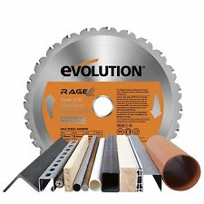 Evolution Rage Multipurpose TCT Blade 210 mm for the saw