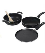 Non Stick Nirlon Cookware 2.2 MM 3 Pcs Set Tawa+Pan+ Kadhai Combo Offer Mrp 999