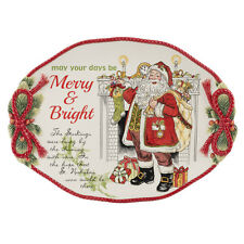 Fitz & Floyd Night Before Christmas Serving Platter Free Ship U.S.A
