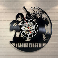Final Fantasy 7 Games Handmade  Design Art Vinyl Record Clock Wall Decor Home