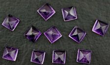 TWO 7mm Square Pyramid Amethyst Cabochon Cab Gemstone Gem Stone Natural