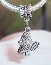 Butterfly Bug Garden Large Hole Dangle Bead for Silver European Charm Bracelets