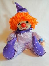 Breden Clown Music Box Musical Purple Doll Bring In The Clowns Head Rotates