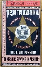 Victorian Trade Card: Star That Leads - Domestic Sewing Machine Company, NY