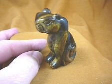 Y-CHE-702) brown Tiger's eye CHEETAH gemstone GEM carving wild CATS cat statue