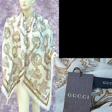 GUCCI Authentic New Designer Womens Horsebit Modal Cashmere Shawl Scarf Wrap