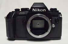 Vintage NIKON N2000 35mm SLR Film Camera Body Only Tested Meter Working Crack