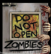 New-Do Not Open-ZOMBIE ATTACK LABORATORY DOOR COVER MURAL Horror Prop Decoration