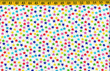 Multi color Med Stars print cotton quilt fabric Timeless Treasures BTY