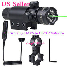 532nm Green Dot Laser Sight 20mm rail Daul Mount Remote Switch for Rifle USPS