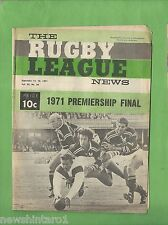 #QQ. THE RUGBY LEAGUE NEWS, 11-12th September 1971, Finals- St. George vs Manly