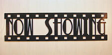 Now Showing, New Metal Wall Art, Home Theater Decor, Contemporary Movie Sign