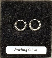 Small Twisted Hoops 10mm Sterling Silver 925 Earrings Pair